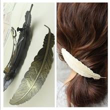 Woman lady Fashion retro vintage Feather Hairpins Hair clips Barrettes Headwear Hair accessories for hair