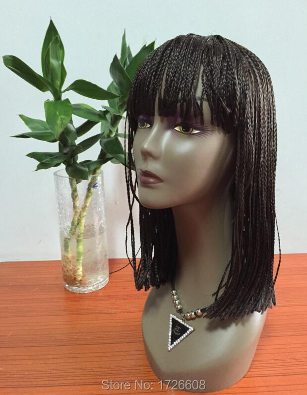 New Synthetic Hair Braided Wig Heat Resistant Micro Braided Wigs Box Braid Wigs African American Braiding Hair for Black Women