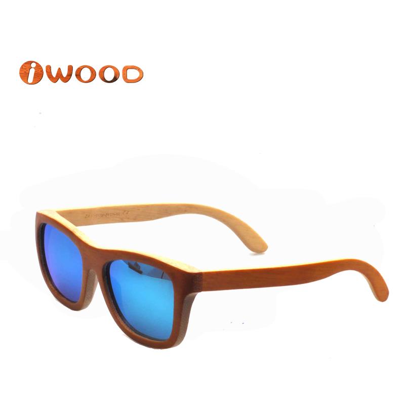 ZA03 mirror sunglasses Real wood coating polaroid wooden hand made vintage outdoors men women sunglass - iwood SUNTIDE Store store
