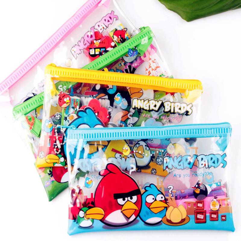 PVC Cute Cartoon School Pencil Case For Girls Children Kawaii Pen Bag Teenagers Students Pencilcase Boys Zipper Anime Pouch(China (Mainland))