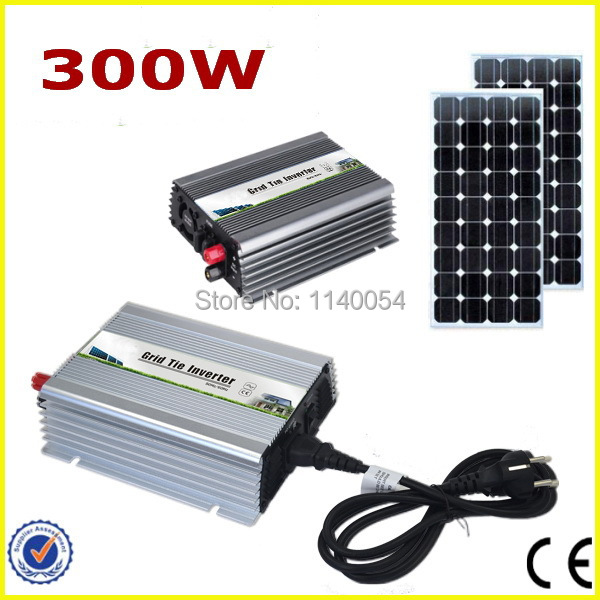 300W 18V MPPT Grid Tie Micro Inverter, Power Inverter 300W DC10.5-28V to AC90-140V or 190-260V Pure Sine Wave Output(China (Mainland))