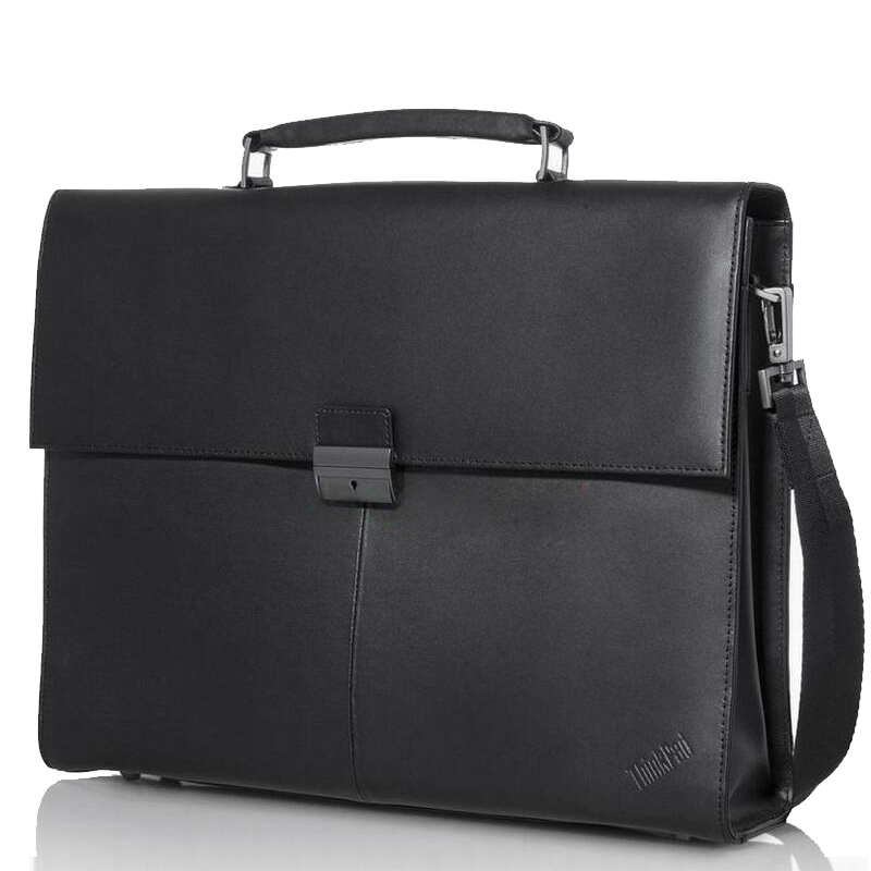 Original ThinkPad Business Executive Full Leather Computer Bag 15 inch laptop shoulder bag 4x40E77322 Free Shipping(China (Mainland))