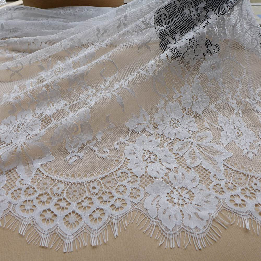 Buy 3 meters white lace fabric chantilly for White lace fabric for wedding dresses