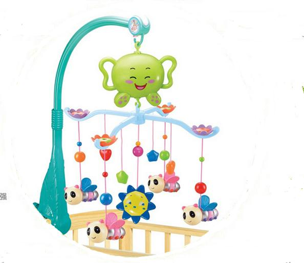 Baby Toys Mobile Baby Rattle Newborn Toys Spin Mobile Musical On The Bed Bell With 12 Music For 0-12 Months(China (Mainland))