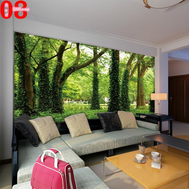 Grande t l vision fond papier peint chambre canap murale for Mural vision tv