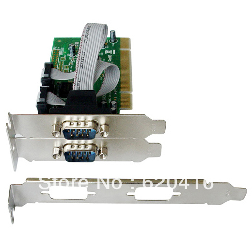 2 DB-9 Serial  RS-232, COM   Ports PCI Controller Card,Support Low Profile Bracket