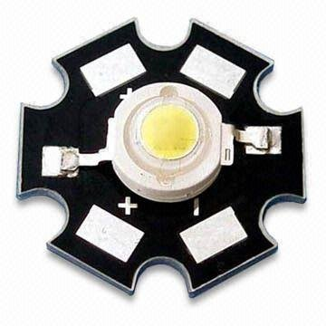 3W high power LED with 3.2 to 4.0V Forward Voltage/1000ma;140-200lm;520-530nm;green color;with heatsink