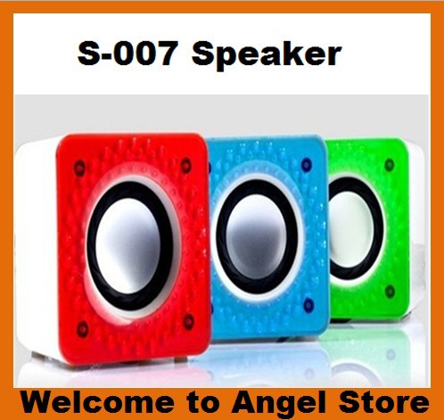 Free Shipping Computer Speaker Y-007 Laptop Desktop Speakers Red Blue Green Size243 x 158 x 101mm(China (Mainland))