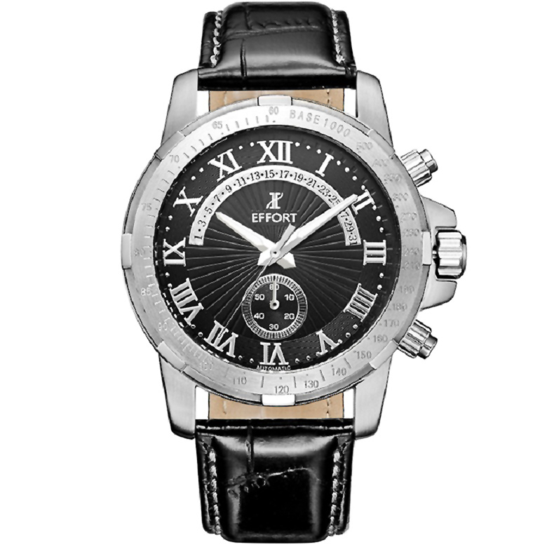 2015 Men Watch Luxury Brand Waterproof Relief Quartz Leather Strap Chronograph Watches Sapphire Crystal Montres Hommes(China (Mainland))
