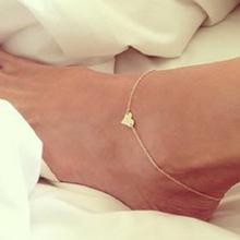 2016 Heart Female Anklets Barefoot Crochet Sandals Foot Jewelry Leg New Anklets On Foot Ankle Bracelets For Women Leg Chain JL01