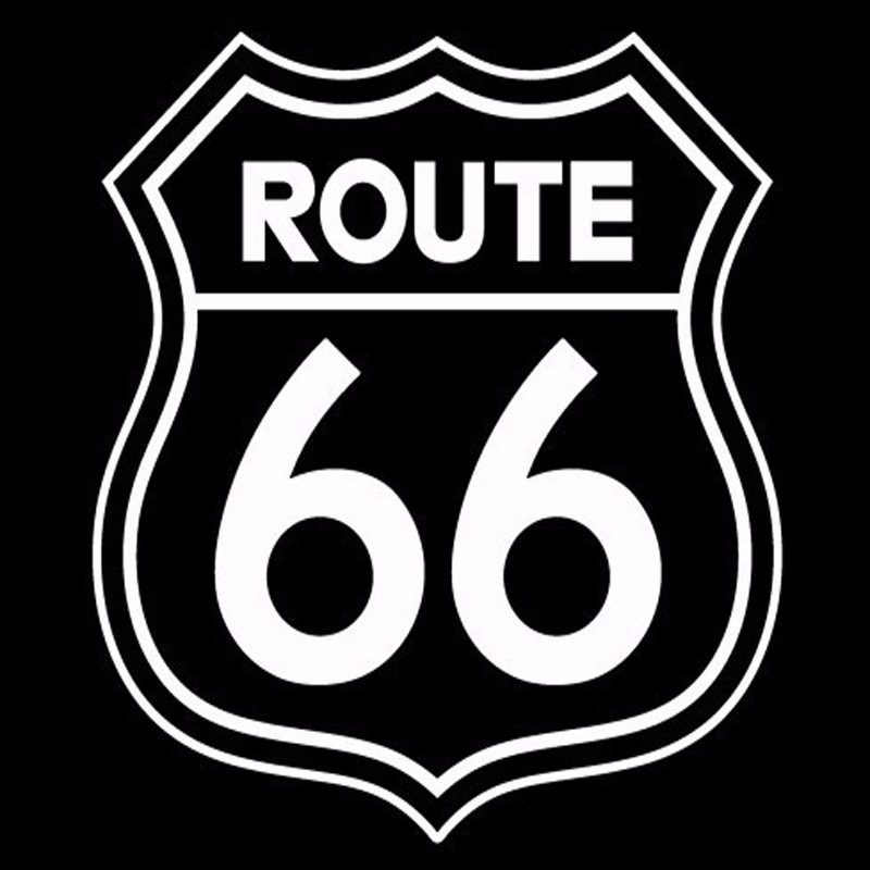 Vintage Signs Route 66 Number Stickers Living Room Wall Decals Window Wall Decoration Home Decor Office Stickers Free Shipping(China (Mainland))