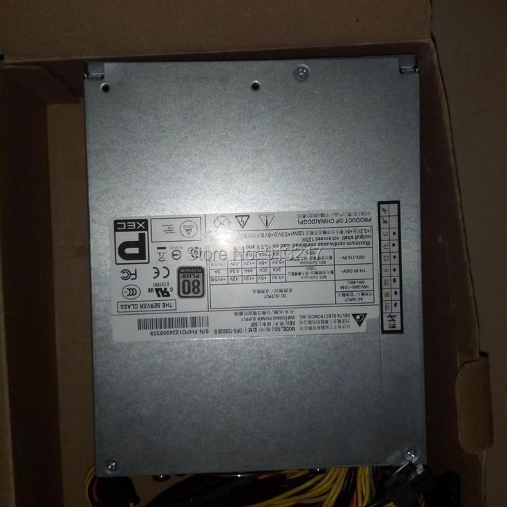 DPS-1200QB B 1200W Server Power Supply PSU Working DHL EMS free shipping(China (Mainland))