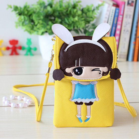2015 New Hot sale Women Mini Cartoon Bags PU Fashionable Rabbit Girl Coin Purse Cell Phone Shoulder bags for Girl Ladies Lolita(China (Mainland))