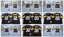 Pittsburgh Steelers Terry Bradshaw Rocky Bleier LeVeon Bell Franco Harris Jerome Bettis Throwback for mens,camouflage(China (Mainland))