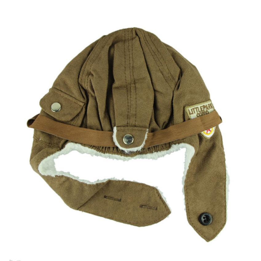 2015 new New Design Winter baby earflap Pilot cap children hats flight caps Free Shipping<br><br>Aliexpress