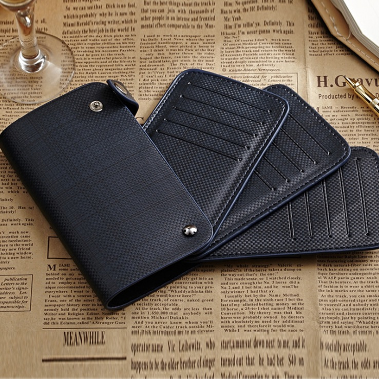 HOT!!! Special Luxury Cool Business PU+Genuine Leather Long design Card Holder women men Credit Card wallet ID holder bag cheap(China (Mainland))