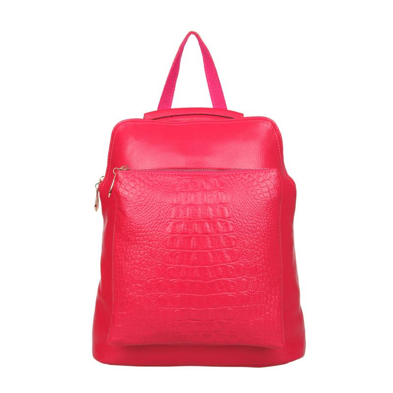 Elegant Crocodile Pattern Fashion Women Backpacks Multipurpose Solid Genuine Leather Bags  <br><br>Aliexpress