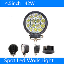 4.5″ 42W 14 x 3W Cree LED bar Work Light for Motorcycle Tractor Boat 4WD Offroad 4×4 Truck SUV ATV