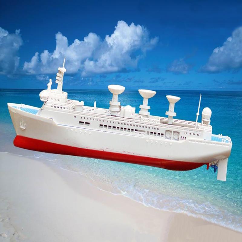 Free shipping DIY Space Tracking Ship Yuanwang Electric Model Kits Navigation Model ship Model Toys Wholesale is Cheaper(China (Mainland))