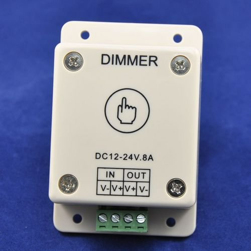 Реостат для регулирования света Worlduniqueen 3pcs/dc12/24V 8 12V 96W 24V 192 WU-TDIMMER-1CH-LV