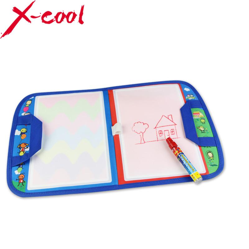 Coolplay 8849 46X29.5cm Magic Water Doodle Mat with1 Magic Pen/ water doodle bag/drawing board/drawing rug(China (Mainland))