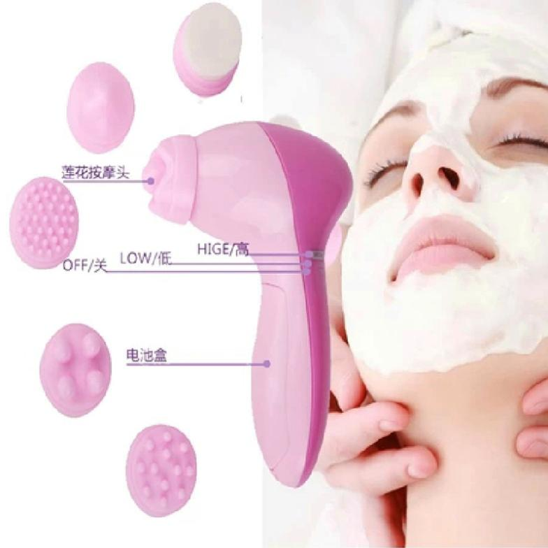 6-1 Multifunction Electric Face Facial Cleansing Brush Spa Skin Care Massage Body Cleaning Massage Mini Skin Brush#M01075(China (Mainland))
