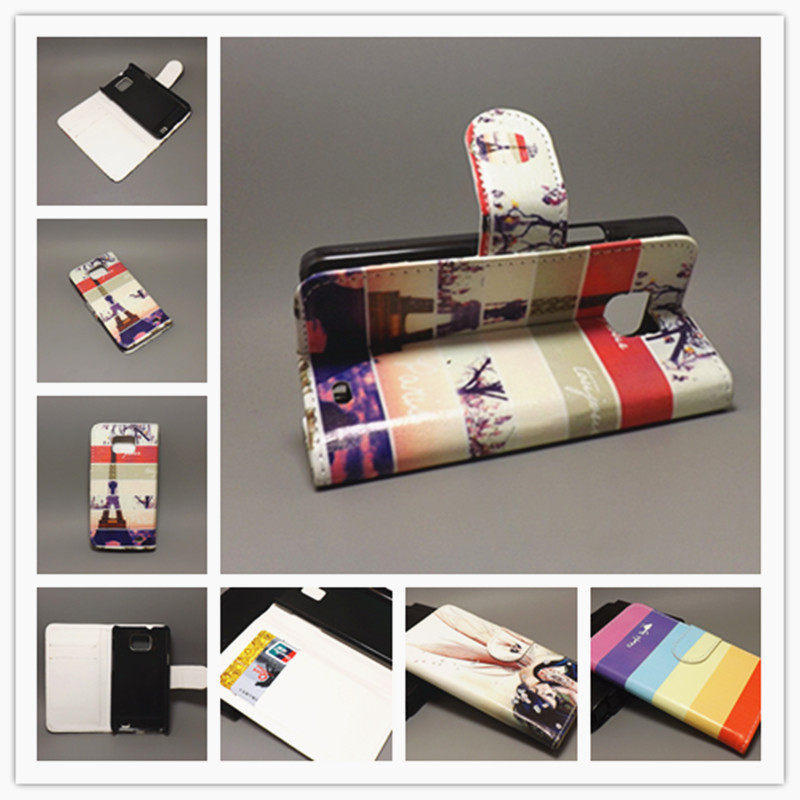 New Butterfly Flower Flag Designer Wallet Flip Stand Book Cover Case For Samsung Galaxy S2 SII GT I9100 Galaxy S2 Plus i9105(China (Mainland))