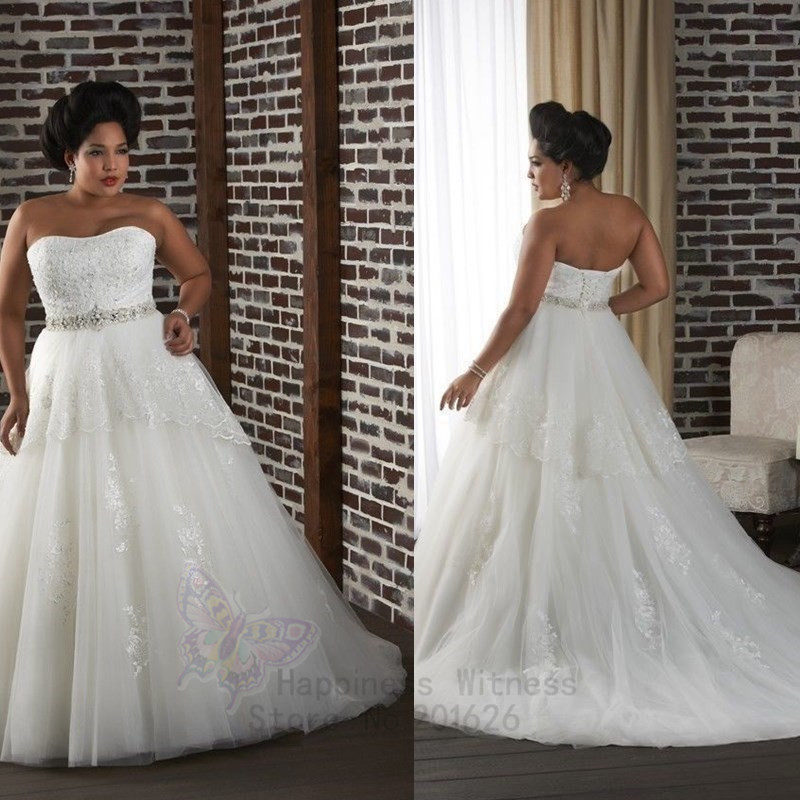 Plus size wedding dress strapless off the shoulder 2014 for Plus size off the shoulder wedding dress