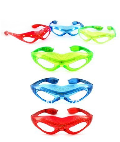 free shiping led spider man glasses/ led glasses/ LED mask glasses/ flashy mask
