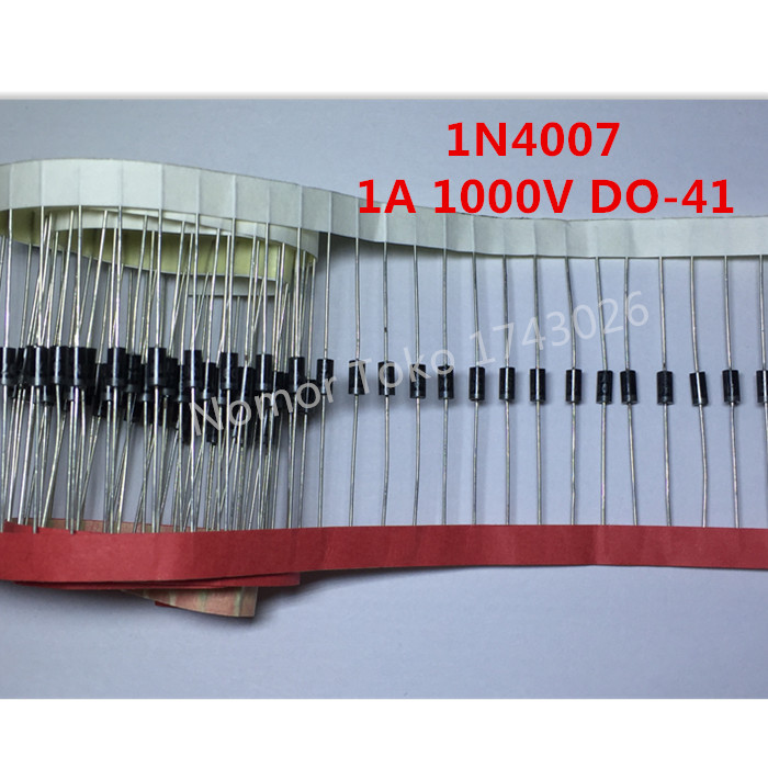 Pengiriman gratis 100PCS 1N4007 4007 1A 1000V DO-41 High quality Rectifier Diode Professional terminal ic(China (Mainland))