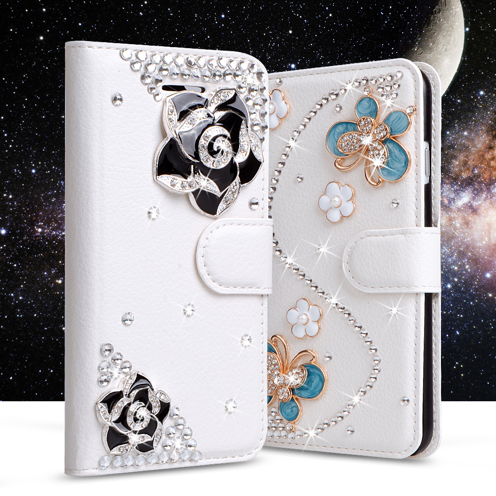 """Luxury Rhinestone Cases For LG Stylus 2 F720 LS775 Stylo 2 K520 5.7"""" Wallet PU Leather Cover Filp Stand Bling Diamond Phone Bags(China (Mainland))"""