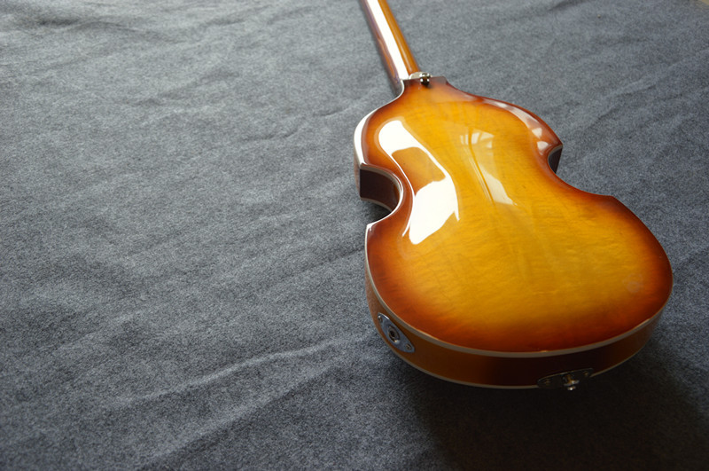 free shipping Top Quality Lower Price Hofner Icon Series Vintage Sunburst Violin Bass Electric Guitar in Stock 4 strings bass(China (Mainland))