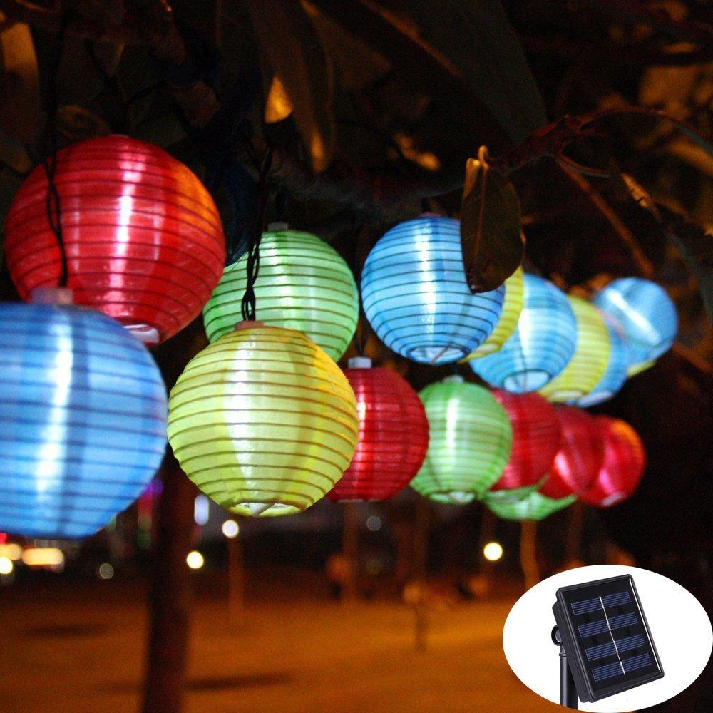 Lantern Ball Solar String Lights 30 LED Solar Lamp Outdoor Lighting Fairy Globe Christmas Decorative Light for Party Holiday(China (Mainland))