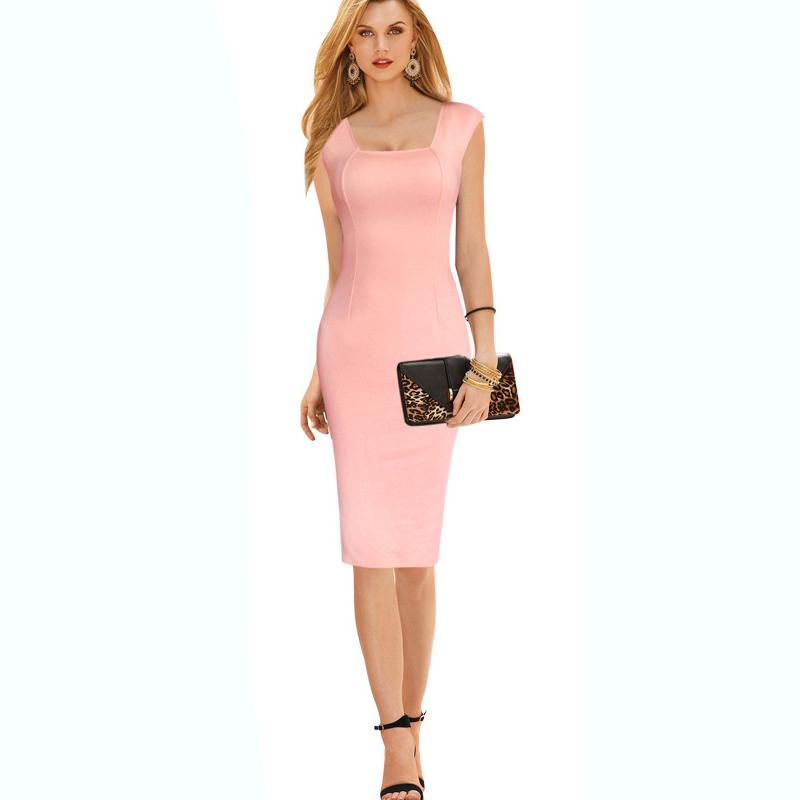 2016 hot pink cute dress women party bandage dress elegant pencil cotton dress summer plus size dress XXL(China (Mainland))