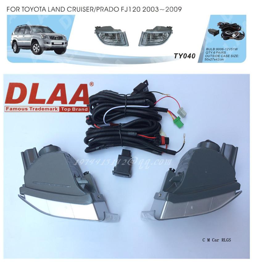 Фотография Car fog lamps, light source, safety DLAA  fog lamps, suitable for  TOYOTA   LAND CRUISER PRADO FJ120 2003-2009  9006 12V51W