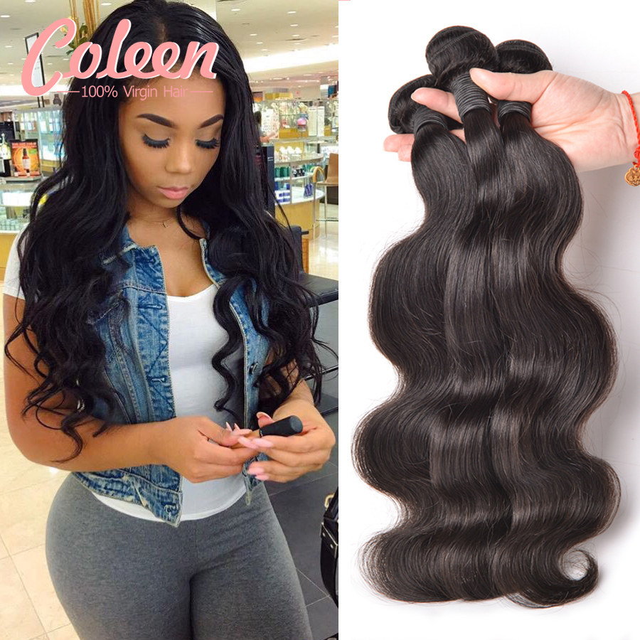 Brazilian Virgin Hair Body Wave 3 Bundles Brazilian Body Wave Brazilian Hair Weave Bundles Human Hair 100% Virgin Brazilian Hair(China (Mainland))