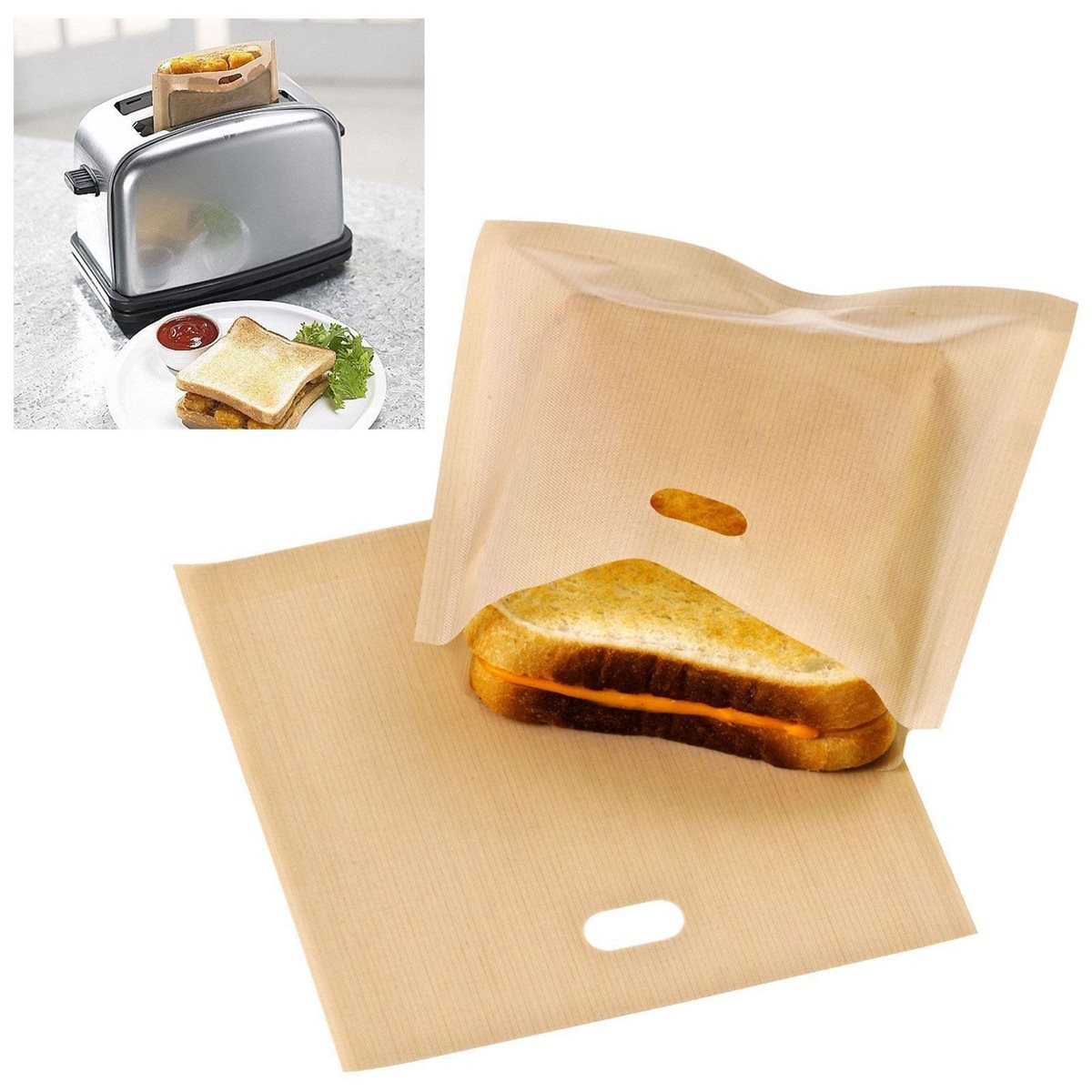 Reusable Pastry Tools Sandwich Bags Toaster Bag Non Stick Bread Bag PTFE Coated Fiberglass Toast Microwave Heating 16*16.5CM(China (Mainland))
