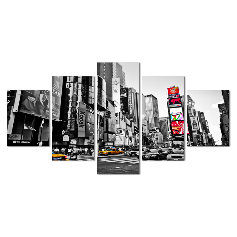 2016 Hot Sales Without Frame 5 Panels Picture New York City HD Canvas Print Painting Artwork Wall Art Canvas painting Wholesale(China (Mainland))