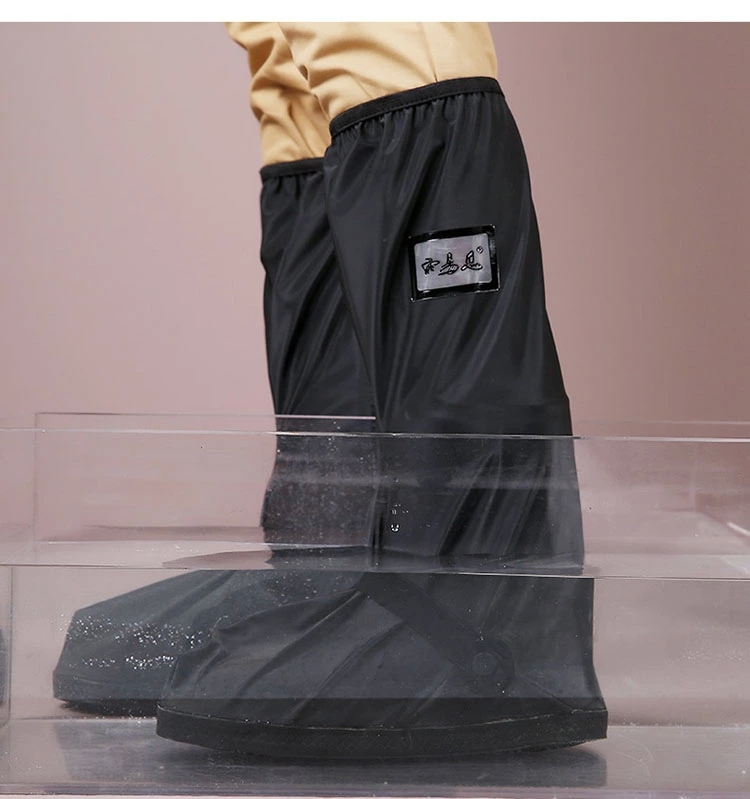 Transparente y negro resuable zapatos impermeables cubren - Fundas para zapatos ...