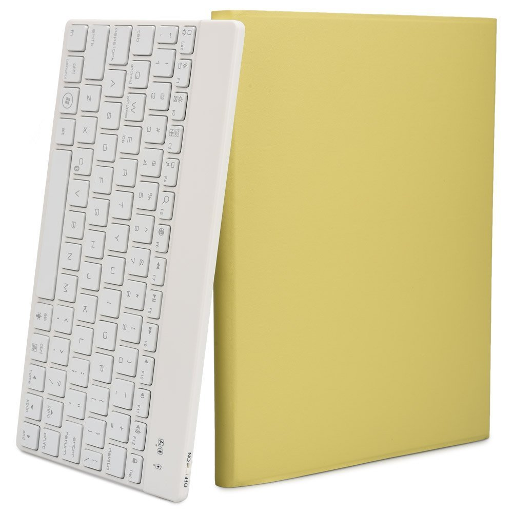 For Apple Macbook Ipad Pro 9.7 Cases Keyboard Wireless Clavier Azerty Young Yellow Bag Auto Sleep Wake 7 Color Backlight Sleeve(China (Mainland))