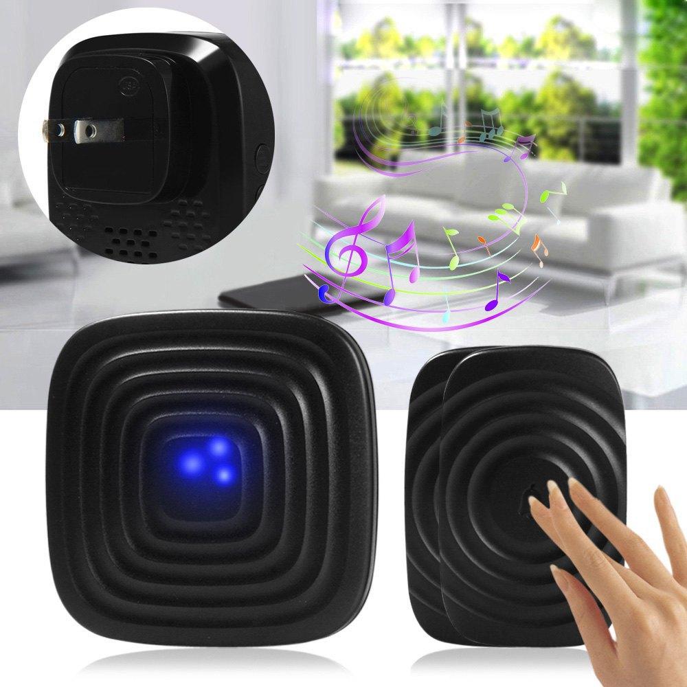 Гаджет  Forrinx H4 Wireless Doorbell 300m Remote Control Adjustable Volume 52 Ringtones 2 to 1 - US Plug or EU Plug for Office  Home None Аппаратные средства
