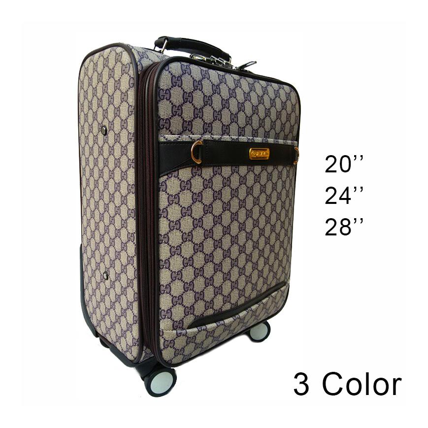 20''24''28'' Spinner Pu Luggage Travel Suitcase,Retro Travel Bag,Rolling Luggage,CA020(China (Mainland))