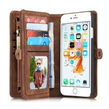 PRO 6S Luxury Genuine Leather Case for Apple iPhone 6S Case Wallet Flip Phone Bag Cases Leather Coque for iPhone 6 6S Plus Cover(China (Mainland))