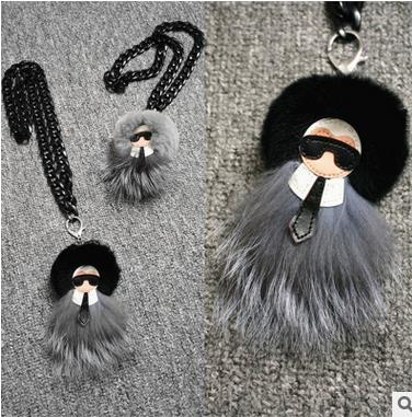 2016 high quality new year gift monster 8 cm real rabbit fur long necklace sweater chain necklaces &amp; pendant For Woman wholesale<br><br>Aliexpress