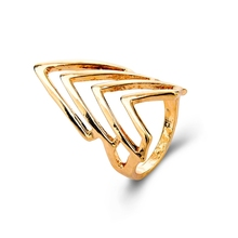 2015 Fashion Gold Plated Triangle Ring High Quality Simple Women Rings Free Shipping Cheap Ring For Men