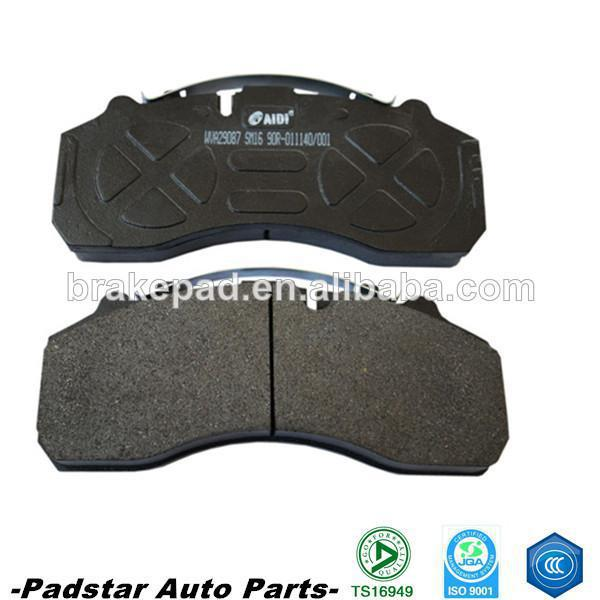 2015 newFactory direct high-quality semi-metallic brake pads wear and low noise bus WVA29087(China (Mainland))