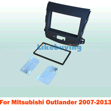 For 172*97.5mm 2 Din Car Frame Dash Kit / Car Fascias for  Mitsubishi Outlander 2007 2008 2009 2010 2011 2012 2013 Free Shipping