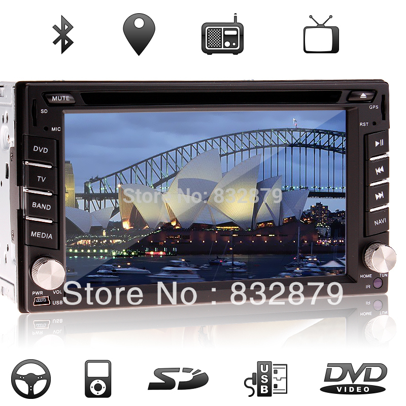 "universal 2 two Din 6.2"" Car DVD player GPS(optional), audio Radio stereo,FM,USB/SD,Bluetooth/TV,digital touch screen IN Dash(China (Mainland))"