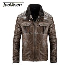 Europe Size large size Leather Jacket men Brand Male  Motorcycle Biker Men's Coat Military Army Tactical Jacket men SSGB-002(China (Mainland))
