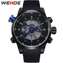 Original WEIDE Military Watches Men Sports Full Steel Quartz Watch Luxury Brand Waterproofed Diver Diving Watch Free Shipping(China (Mainland))